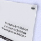 Mobile Preview: Acrylglas Satiniert Weiss - Milchglas Schild
