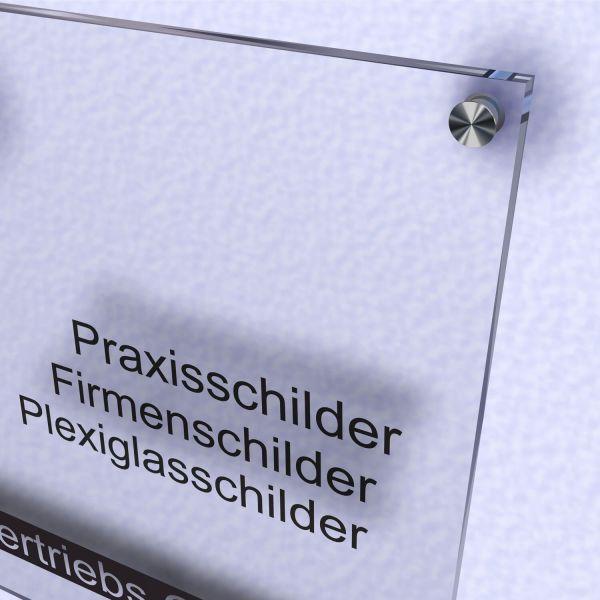 Acrylglas Schild klar
