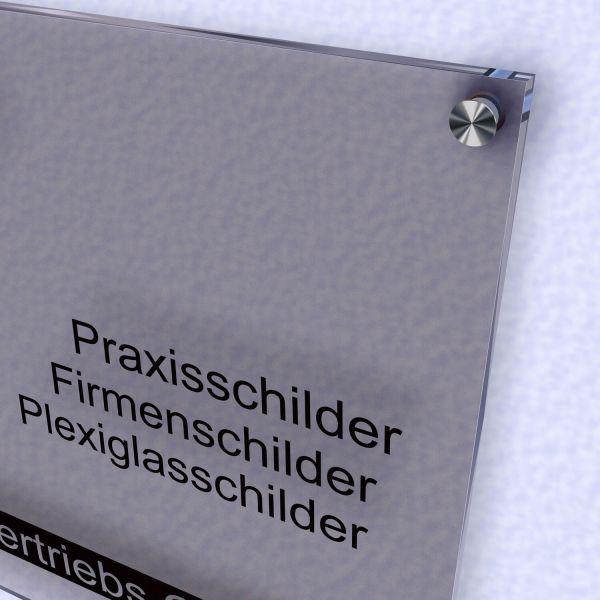 Acrylglas Schild satiniert