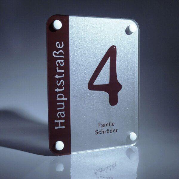 Hausnummer Acrylglas Satiniert - Türschild