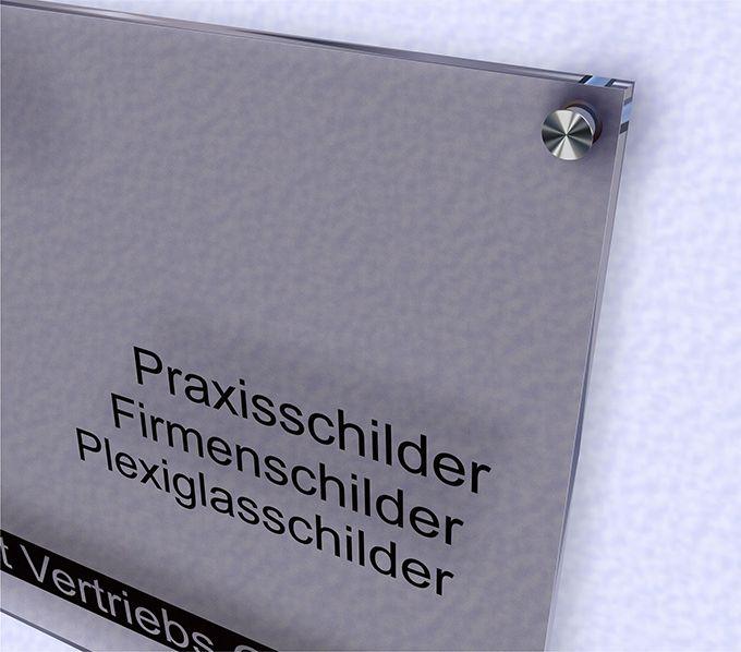 Relativ Werbeschilder24.de - Acrylglas Schild satiniert EE81