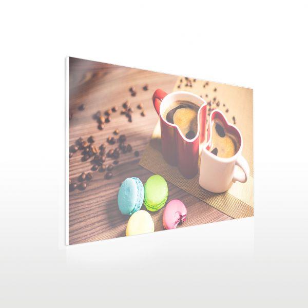 Acryl Küchenrückwand - Beispiel Herztassen