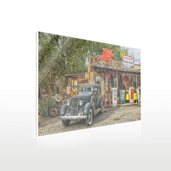 Acrylglas Wandbild - Beispiel Tankstelle