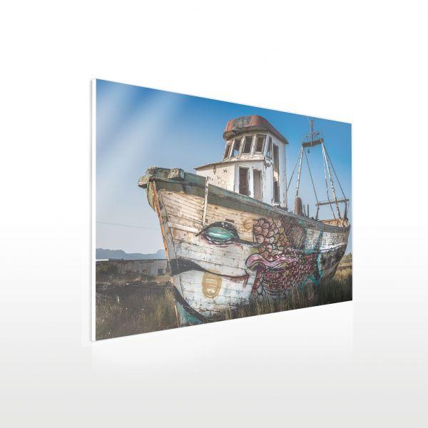 Acrylglas Wandbild - Muster Boot