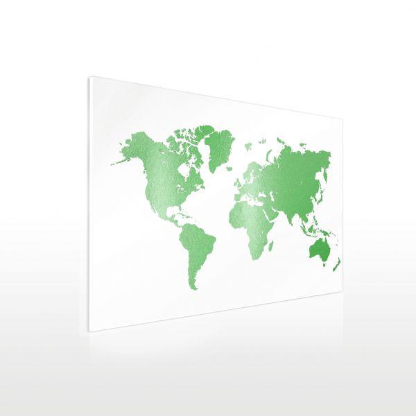 Acrylglas Wandbild in XXL - Weltkarte