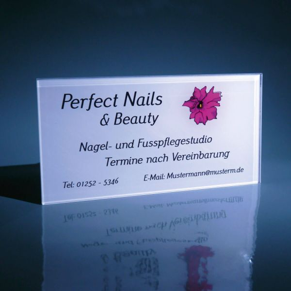 PVC Firmenschild 30x20 Vorlage Perfect Nails