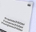 Werbeschilder24.de - Acrylglas Schild Satiniert Weiß