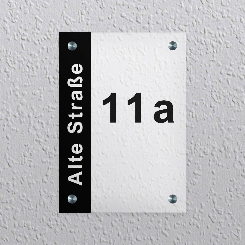 Werbeschilder24.de - Acrylglas Schild Satiniert Weiss - Muster Vorlage