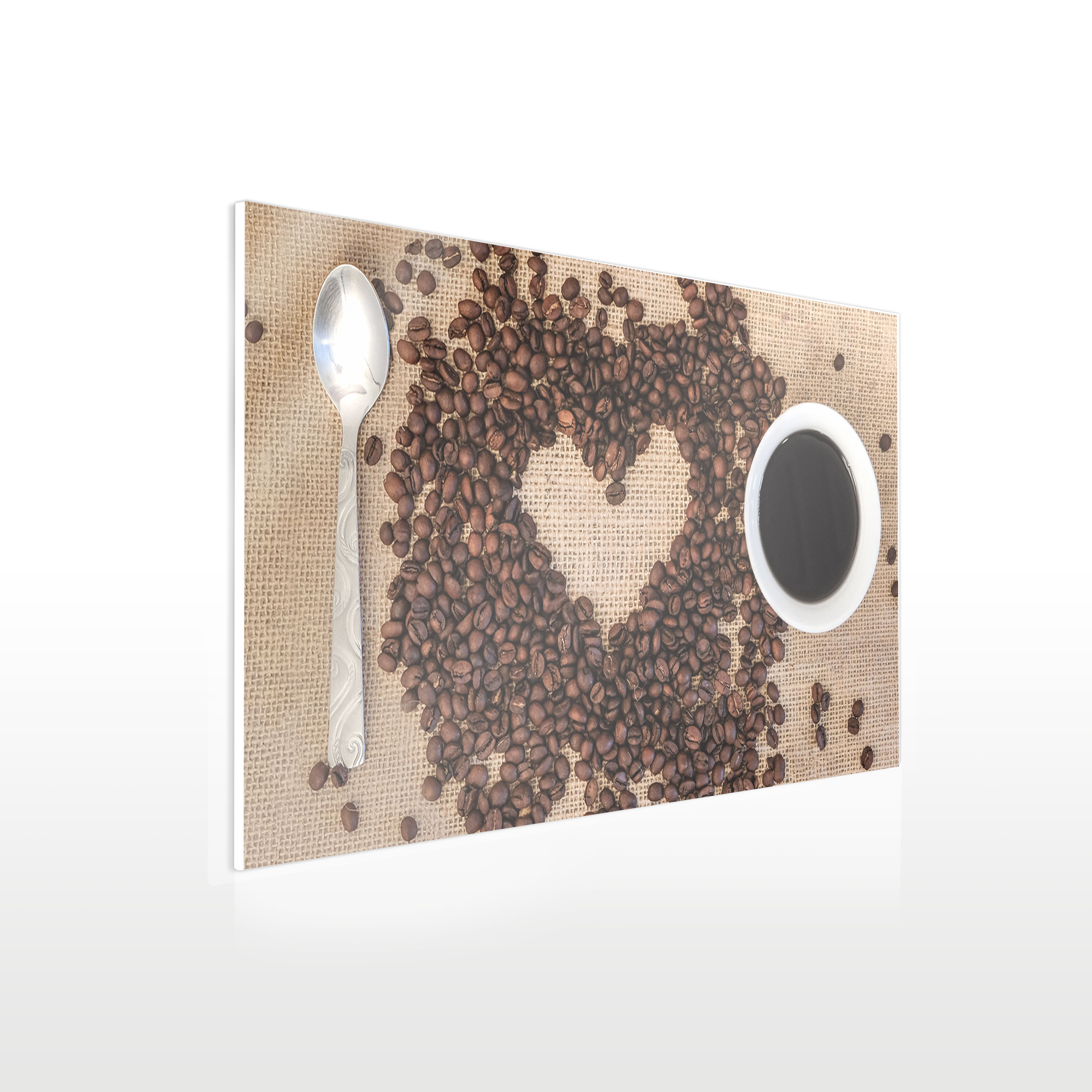 Werbeschilder24.de - Küchenbild auf Acrylglas - Beispiel Kaffee
