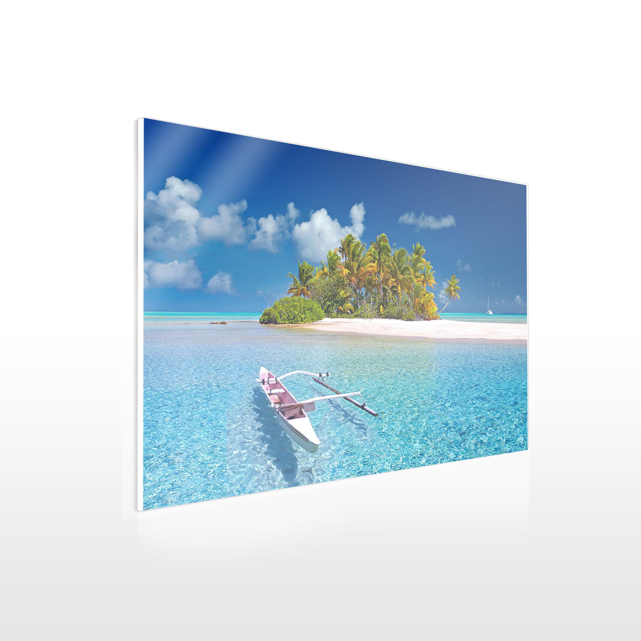 Werbeschilder24.de - Leinwandbild auf Acrylglas - Beispiel Urlaubsfoto