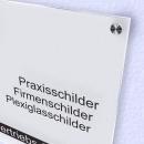 Acrylglas Schild Satiniert Weiß